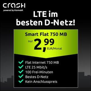 [Telekom-Netz] 750MB LTE (25 Mbit/s) + 100 Freimin. für mtl. 2,99€ ohne Anschlusspreis, mit VoLTE, WLAN Call, etc.