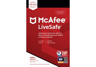 Mcafee Livesafe 1 Jahr für 19,99 Unbegrenzt Geräte