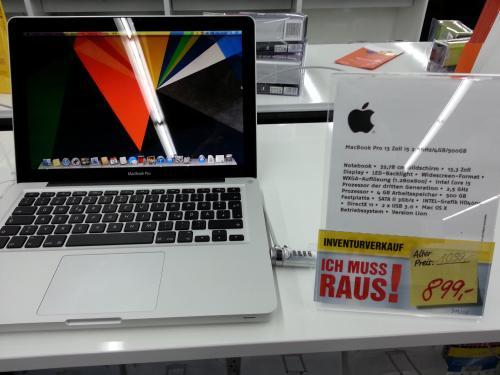 Apple MacBook Pro MD101D/A, 13,3 Zoll, mit Core i5, 4GB, 500 GB  für 899,- (Offline/ lokal)