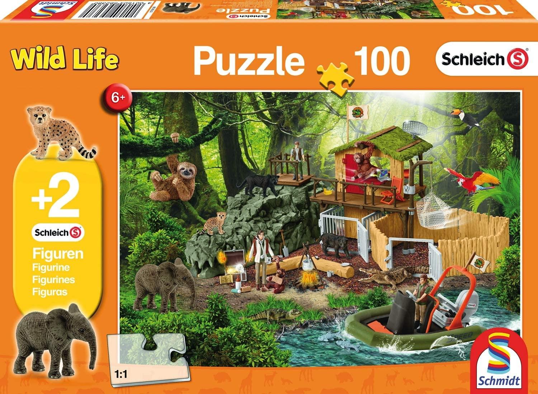 Schmidt Spiele Wild Life Kinderpuzzle, 100 Teile + 2 Schleich-Figuren für 5,99€ (Amazon Prime & Galeria Kaufhof)