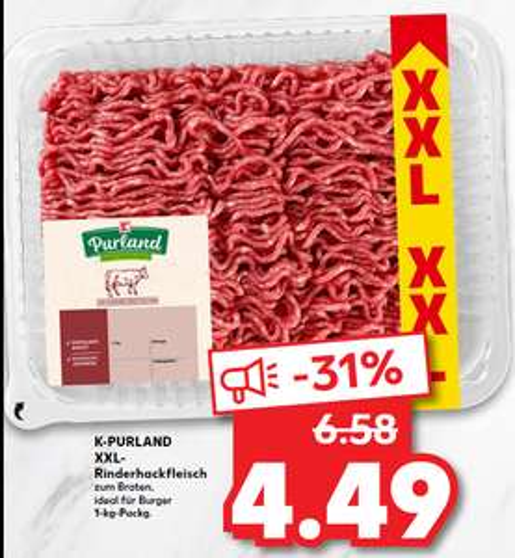 [LOKAL HANAU] Rinderhackfleisch 1kg 4,49€ Red Bull 0,88€