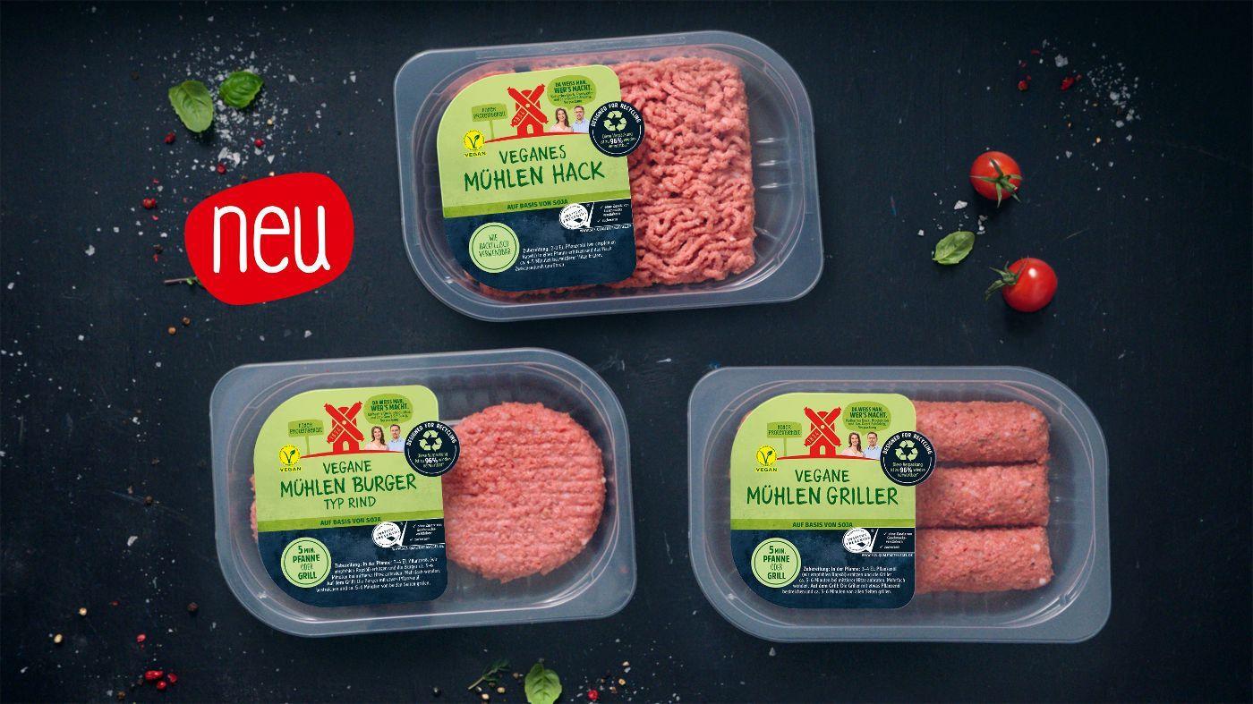 [Rewe] Rügenwalder Vegan - Mühlen Griller, Hack und Burger für 2,99€