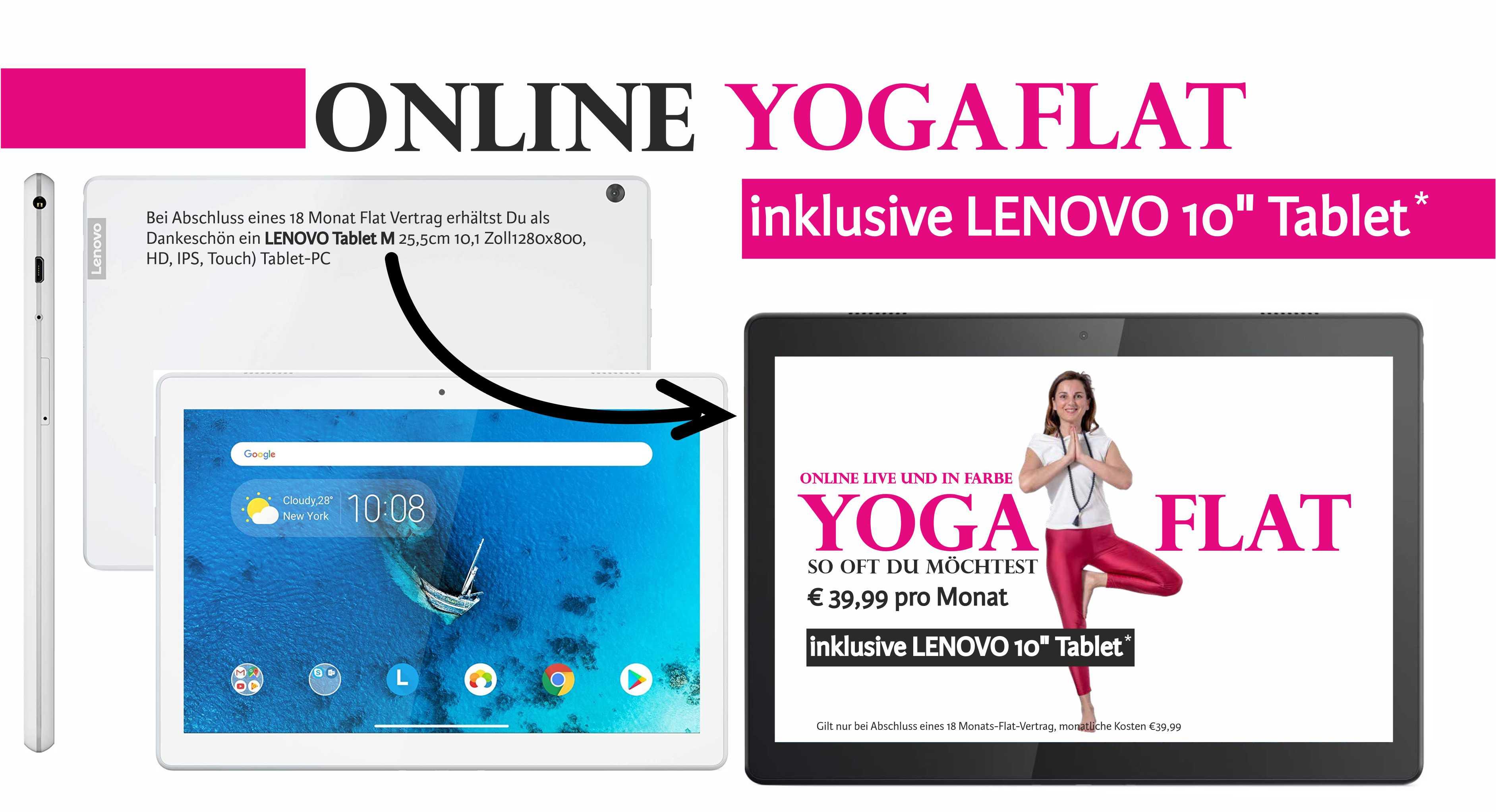 Yoga Flat + Tablet