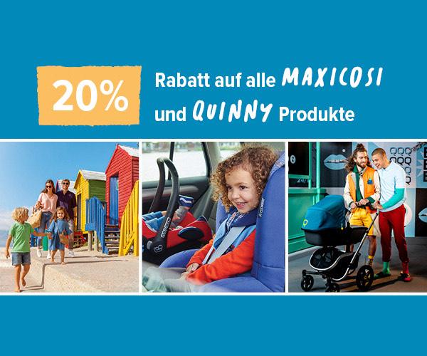 Maxi-Cosi 20% im OnlineShop und bei ausgewählten Partner