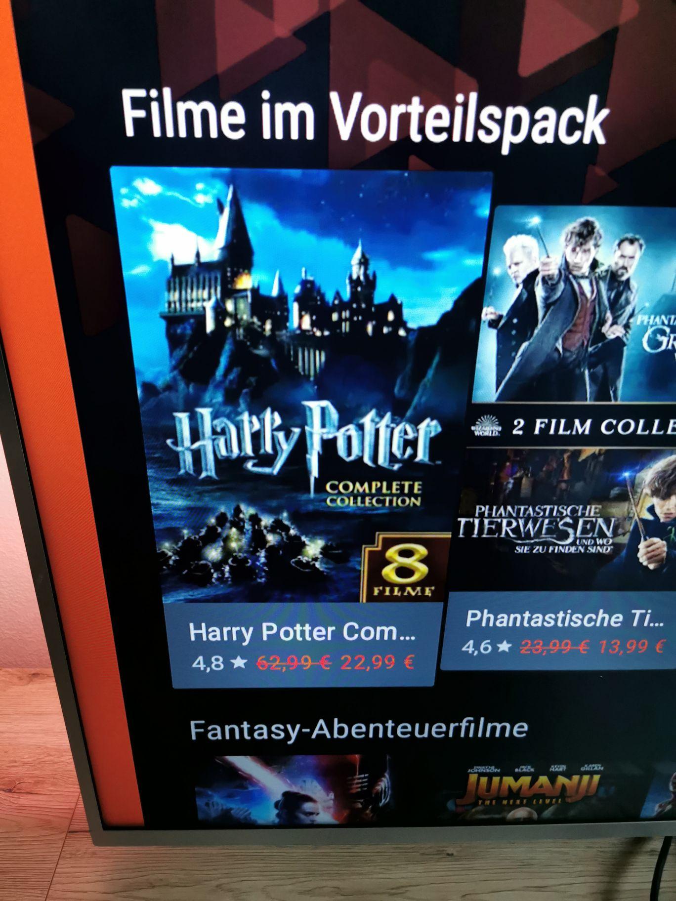 Alle 8 Harry Potter Filme in HD bei Google Play Film