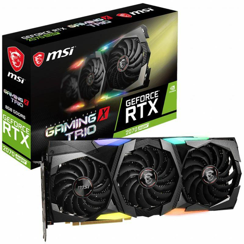 8GB MSI GeForce RTX 2070 SUPER GAMING X TRIO Aktiv PCIe 3.0 x16 (Retail)