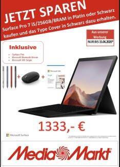 Lokal MM Leipzig - Microsoft Surface Pro 7 i5/256GB/8RAM mit jeder Menge gratis Zubehör