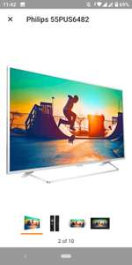 Philips 55PUS6482/12 139cm (55 Zoll) LED-Fernseher (Ultra-HD, Smart TV, Android, Ambilight)