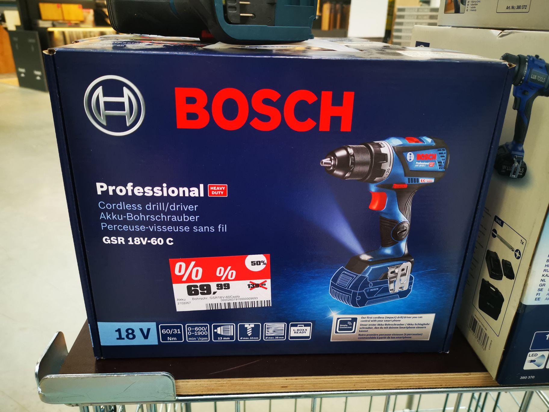 (Lokal Limburg OBI) Bosch GSR 18V-60 C Solo