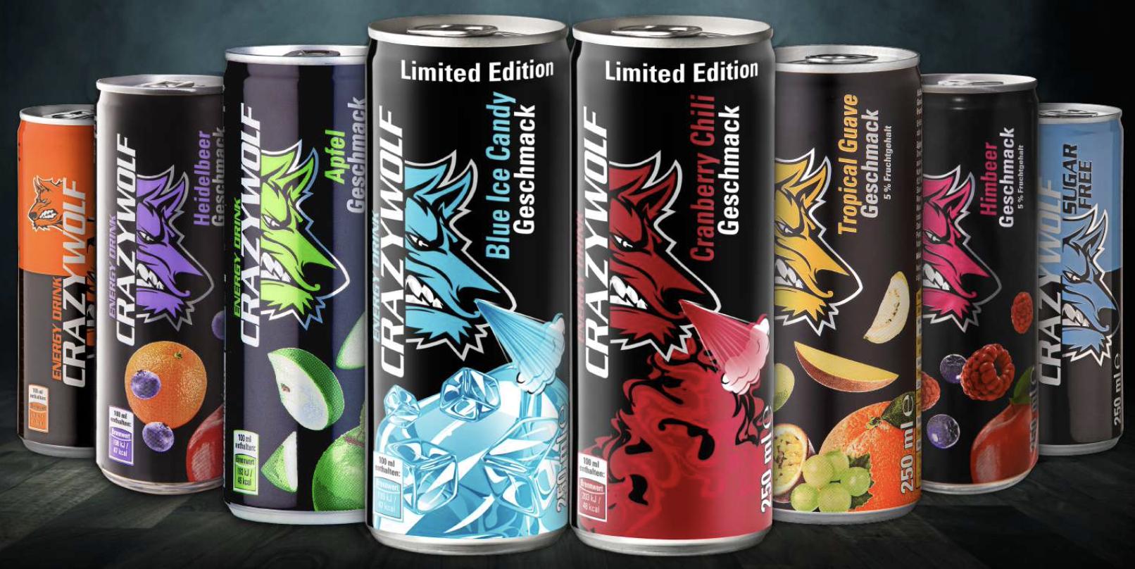 Crazywolf - Energy Drink versch. Sorten je 250ml [Kaufland ab 11.06.]