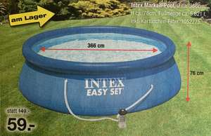 INTEX Easy Set Pool 366 x 76 cm mit Kartuschenfilter