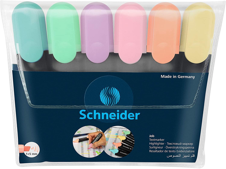 Schneider Textmarker 6er Etui Pastell & Multipack für je 1,79€ (Müller Abholung)