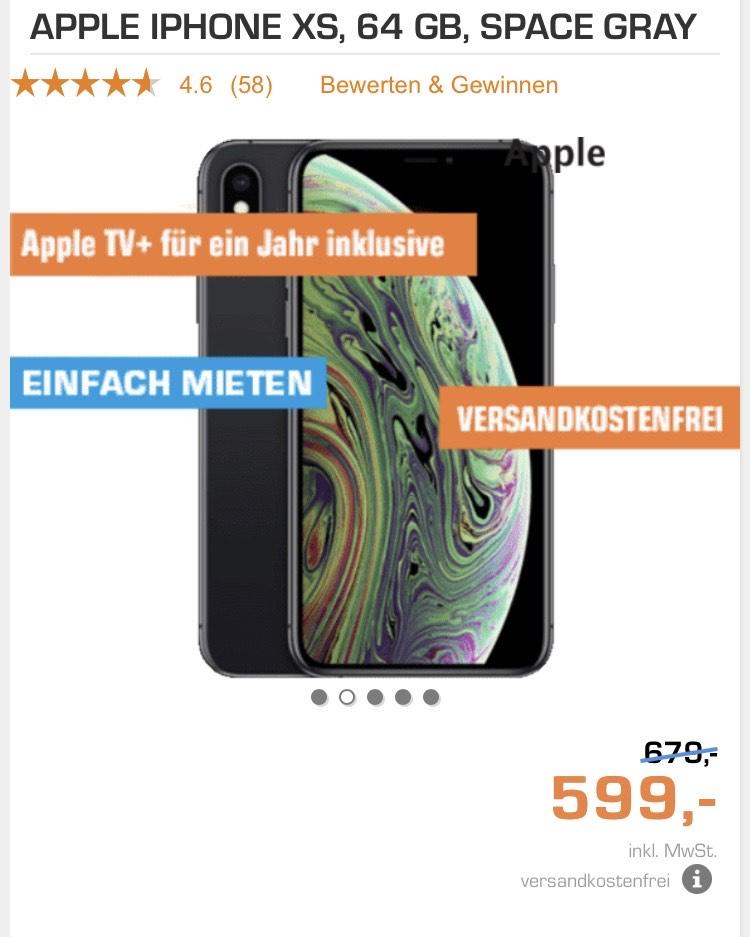 iPhone XS 64 GB bei Saturn für 599 EUR