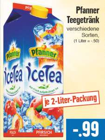 [EDEKA] Hessenring - Pfanner Eistee 2L verschiedene Sorten für 99 ct.oder 1,29 Euro im Real
