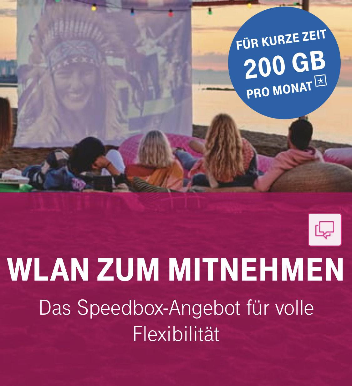 Telekom Speedbox 200GB statt 100GB (Neukunden) + 100€ Euro zurück