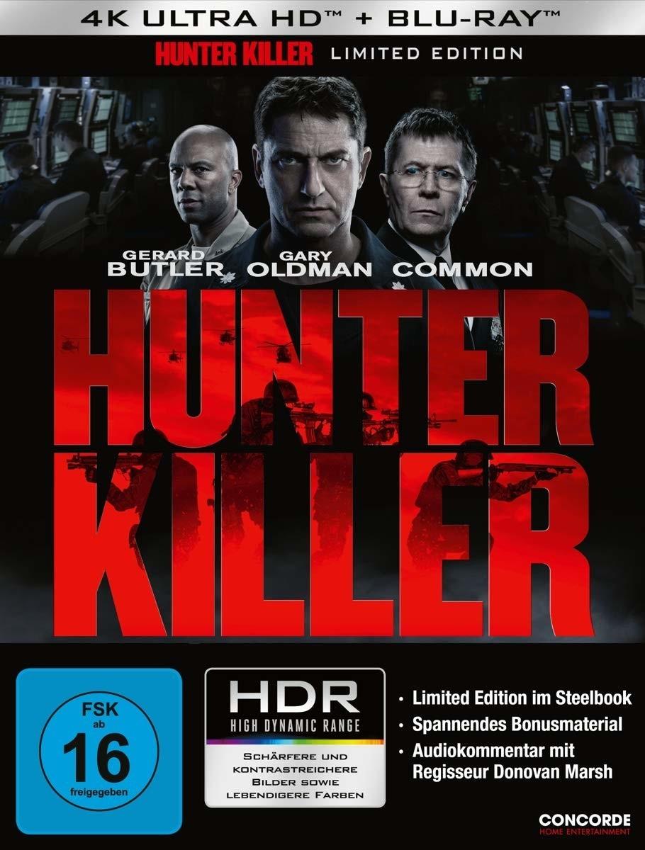 Hunter Killer 4K Limited Edition Steelbook (4K UHD + Blu-ray) für 13,49€ (Müller Abholung)