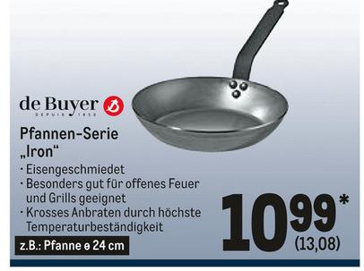 METRO: De Buyer z.B. 24cm Eisenpfanne Iron für 13,08€