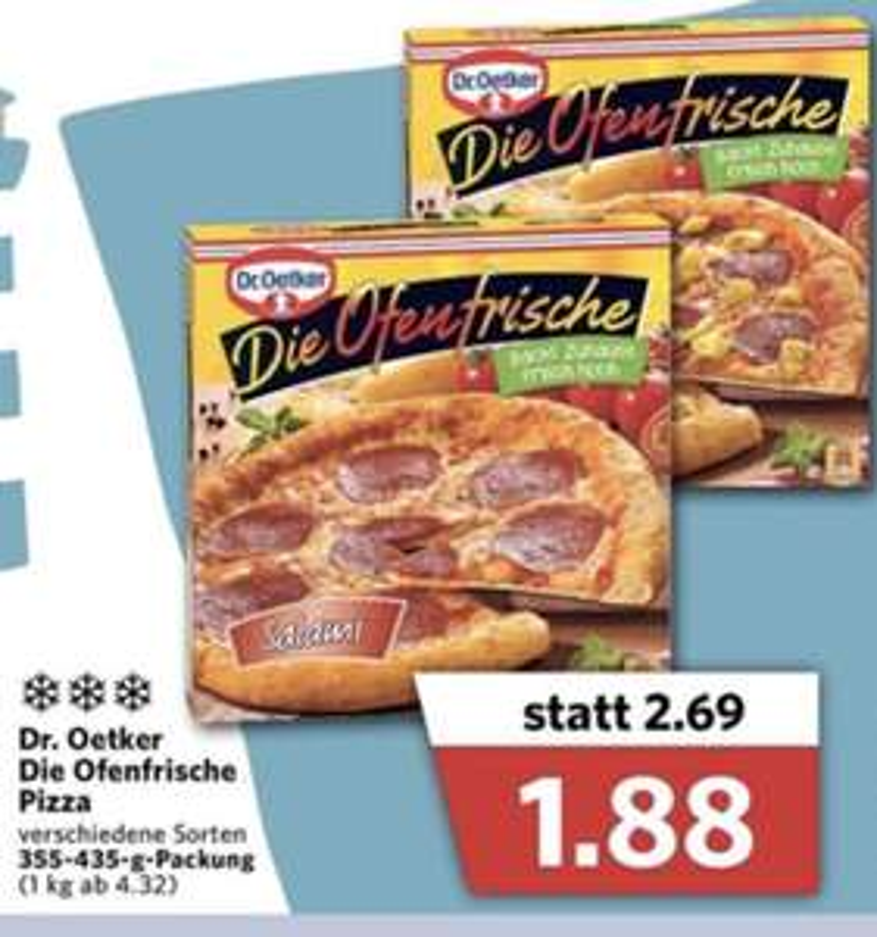 """Dr. Oetker """"Die Ofenfrische"""" Pizza bei Combi"""