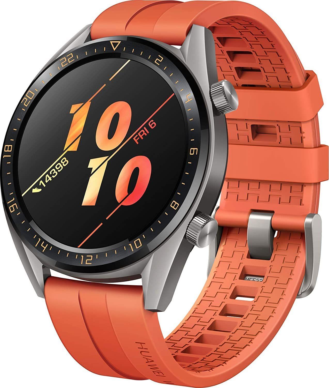 Huawei Watch GT Active Smartwatch (46 mm, AMOLED, GPS, Fitness Tracker, Herzfrequenzmessung, 5 ATM wasserdicht) dunkelgrün oder orange