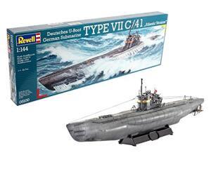 "Revell Modellbausatz - Deutsches U-Boot Type VII C/41 ""Atlantic Version"" im Maßstab 1:144, Level 4 für 12,84€ (Amazon Prime & Real Abholung)"