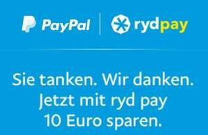 Ryd Pay - 10€ bei Zahlung mit PayPal (Ohne MBW!)