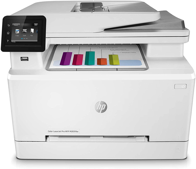 HP Color LaserJet Pro M283fdw Multifunktions-Farblaserdrucker (Drucker, Scanner, Kopierer, Fax, WLAN, LAN, Duplex, Airprint)
