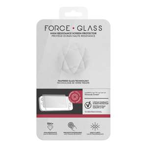 Amazon und Real - Nintendo Switch FORCE GLASS - Screen Protector Glass 9H+