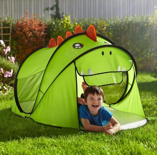 2x Dino Zelt in Grün oder Einhorn Zelt in Rosa für 20€ inkl. Versand (Mömax)
