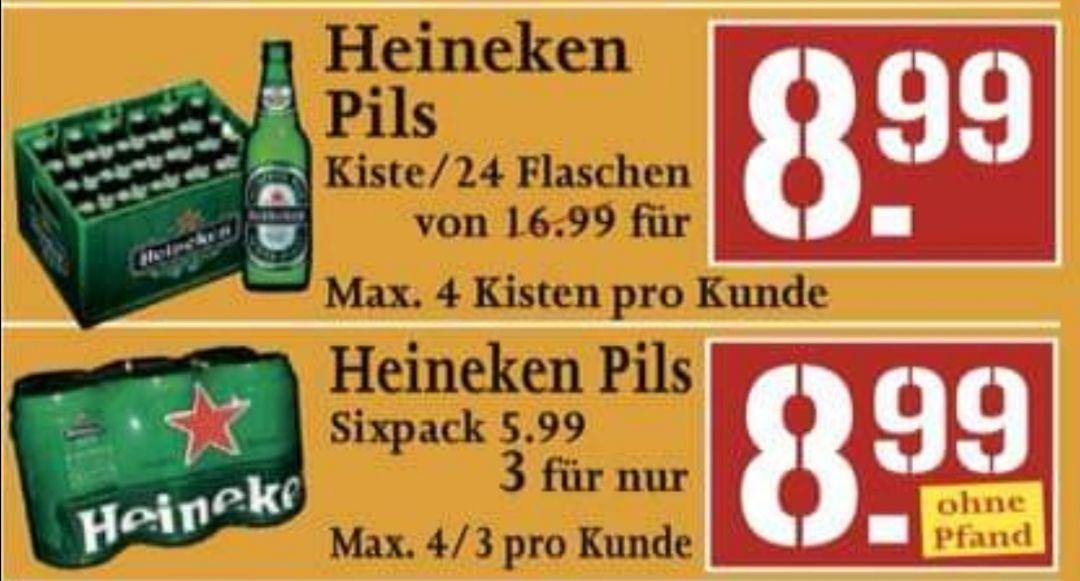 Kiste Heineken 24 x 0,30 für 8.99€