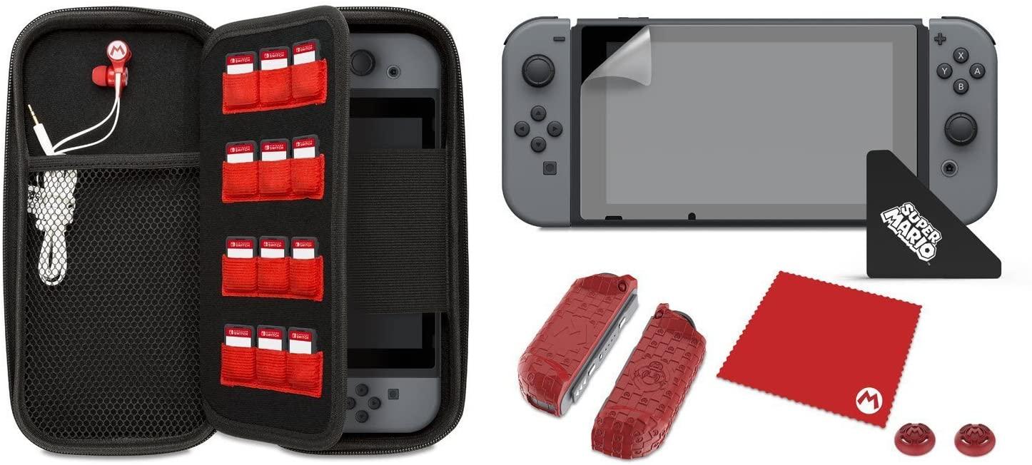 """Nintendo Switch Starter-Set - Mario""""M""""Edition für 14,38€ inkl. Versand (Amazon.fr)"""