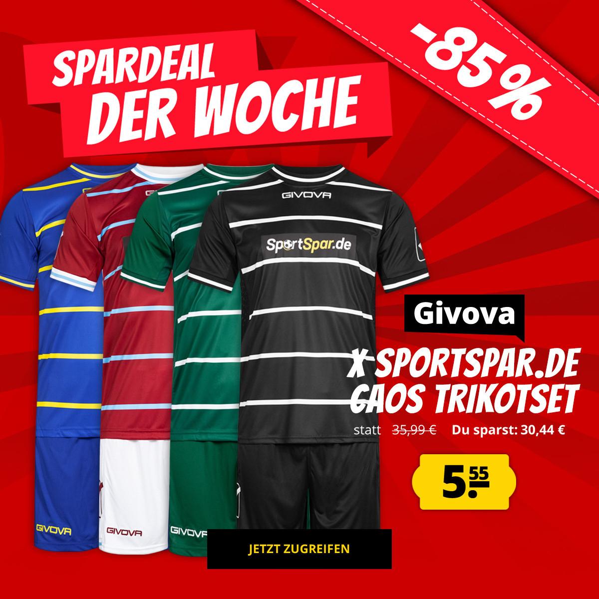 Givova x Sportspar.de Caos Herren Kurzarm Trikot-Set