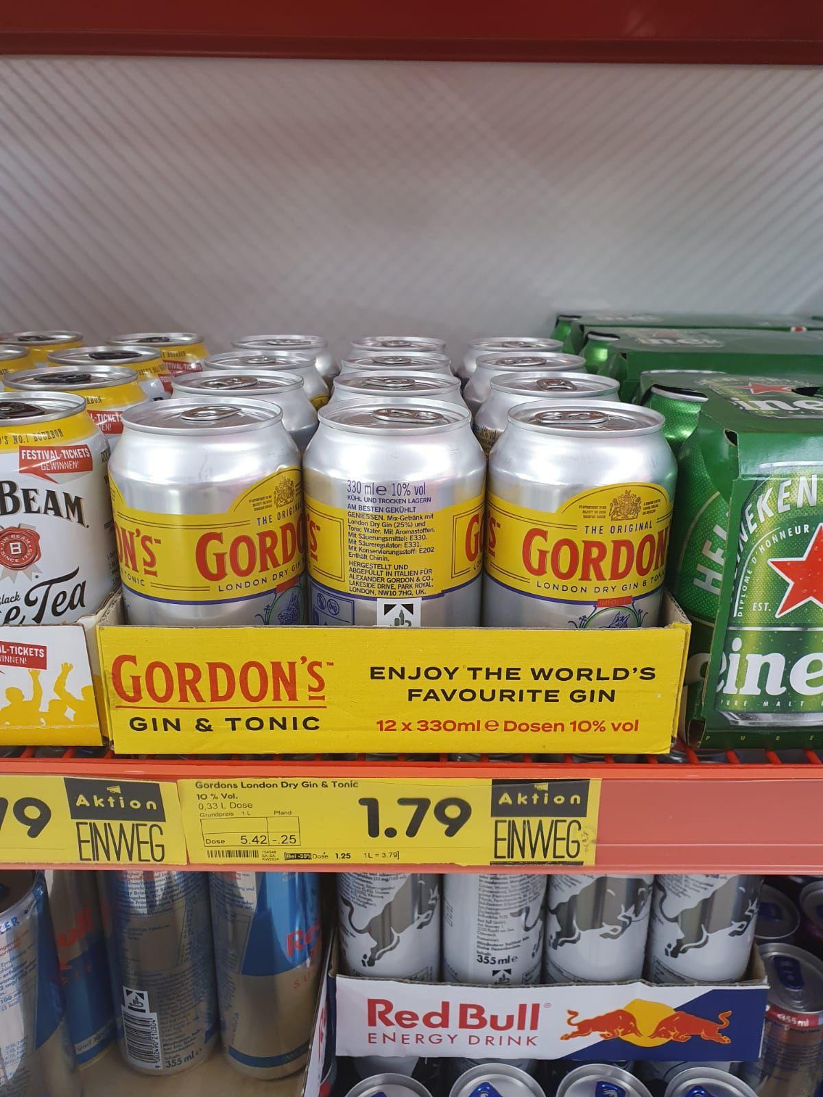 Jim Beam & Cola / Gordon's London Dry Gin & Tonic