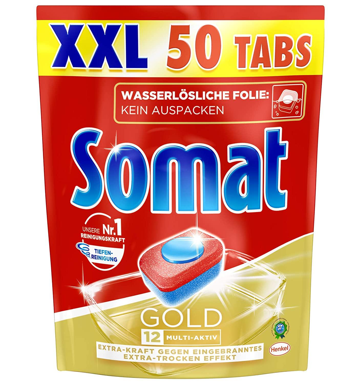 [Amazon.de] Somat Tabs 12 Gold 150 Stück (0,10€ pro Tab) + nützliche Füllartikel