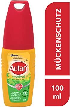 [AMAZON Prime] Autan Tropical Pumpspray, Mückenschutz für Körper & Gesicht, 100 ml