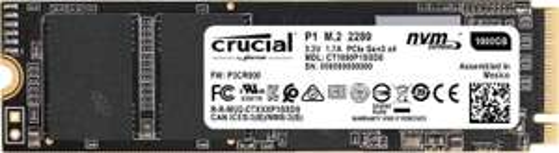 Crucial P1 500GB SSD (M.2, PCIe 3.0 x4, 1900 MB/s Lesen, 950 MB/s Schreiben) für 53,10€ mit Visa [eBay-Saturn]