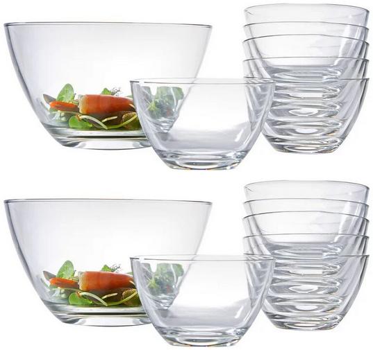 "Leonardo 14-teiliges Glas-Schüssel-Set ""Selection"" (2x Ø 24 cm, 12x Ø 14 cm, Spülmaschinengeeignet) [XXXLutz]"