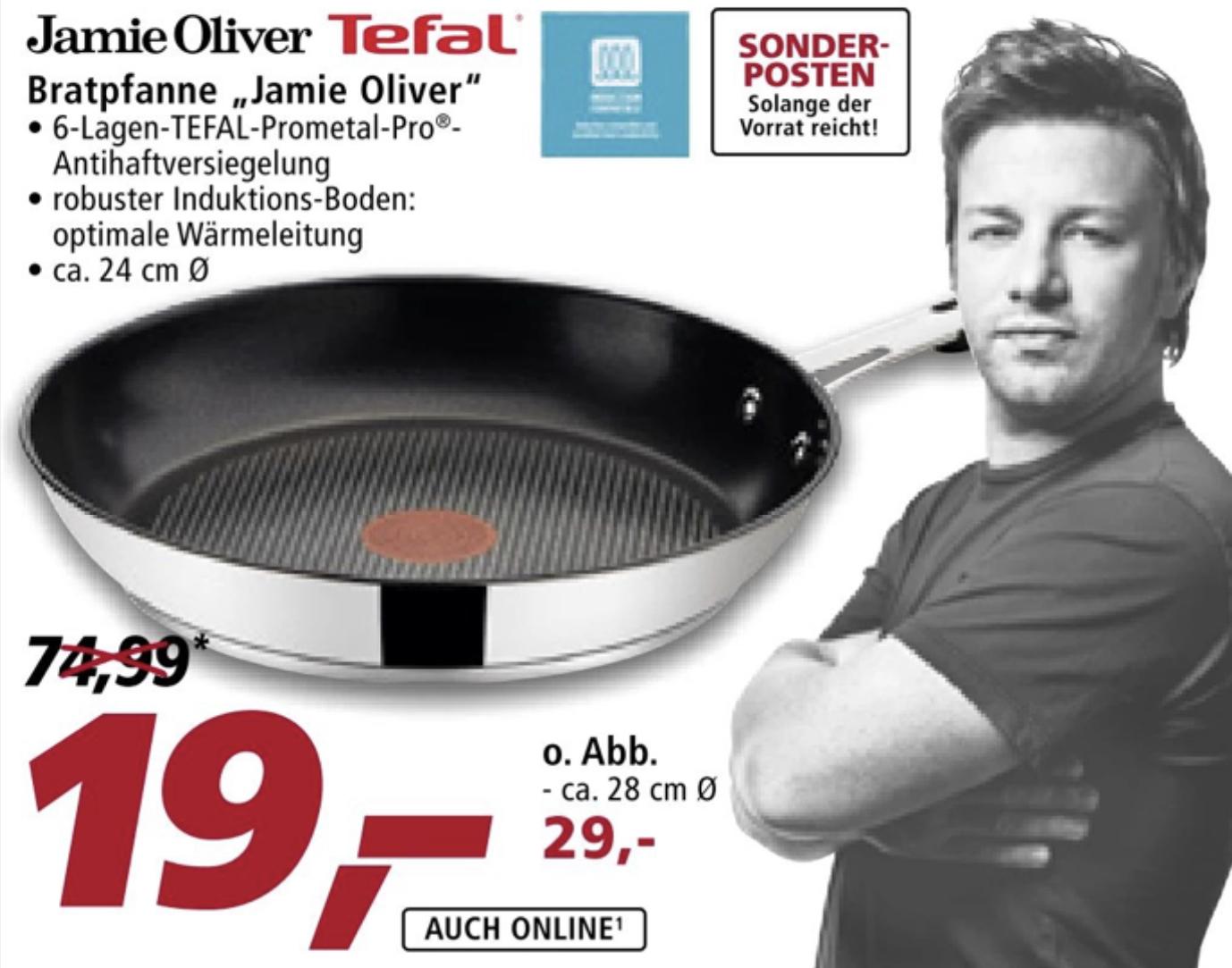 Tefal Jamie Oliver Bratpfanne 24cm für 19€ - ab 15.06. bei real