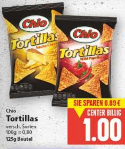 [Edeka vielleicht Bundesweit] Chio Tortillas dank Reebate für effektiv 0,70€ [Kaufland ab Freitag] für effektiv 0,69€
