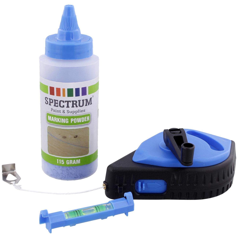 Spectrum Schlagschnurgerät 30m, Kreide blau 115g, Wasserwaage für 2,69 Euro [Action-Filiale]