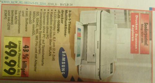 Offline@ Kaufland Drucker Samsung CJX-1050W für 49,99€