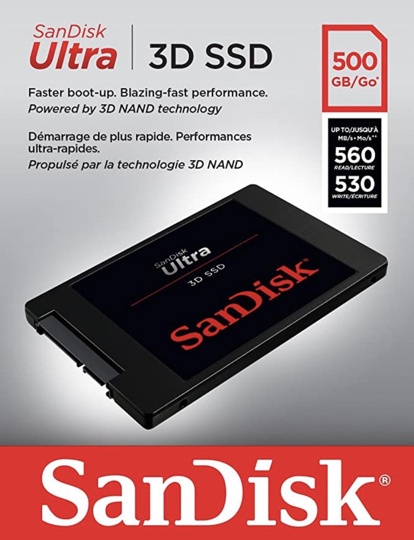 SanDisk Ultra 3D SSD 500GB für 58,78€ inkl. Versandkosten [Amazon]