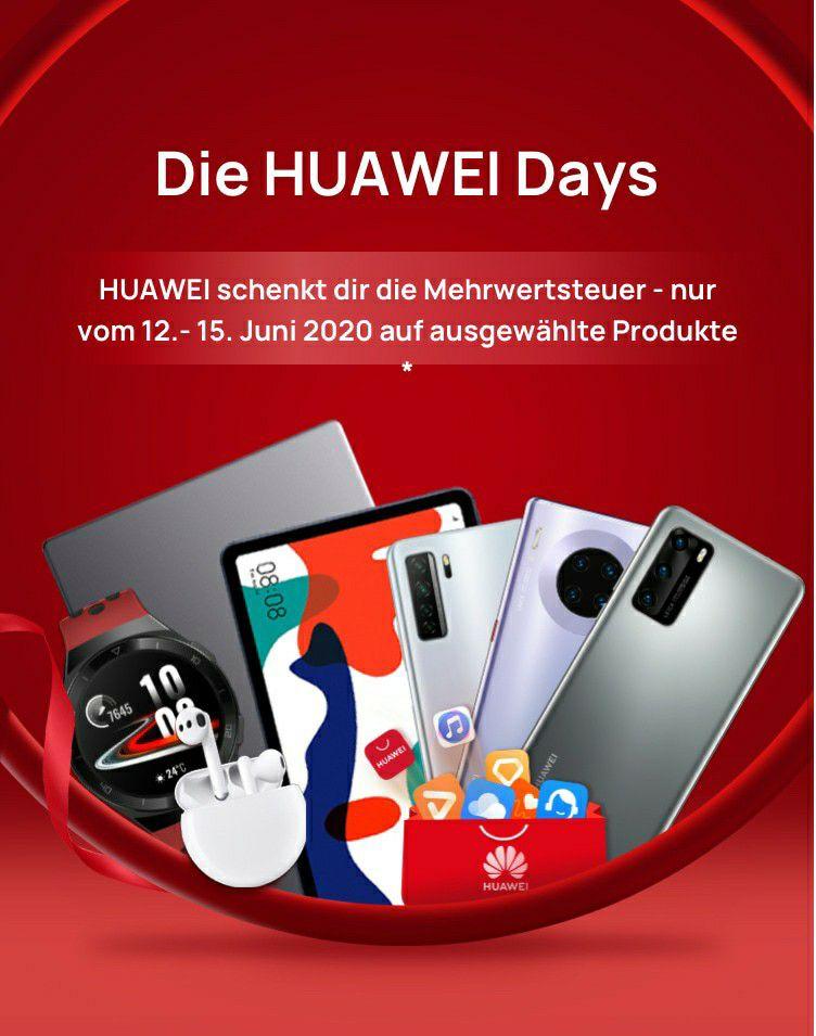 Huawei Days Mehrwertsteuer Aktion z.B. P40 lite 5g