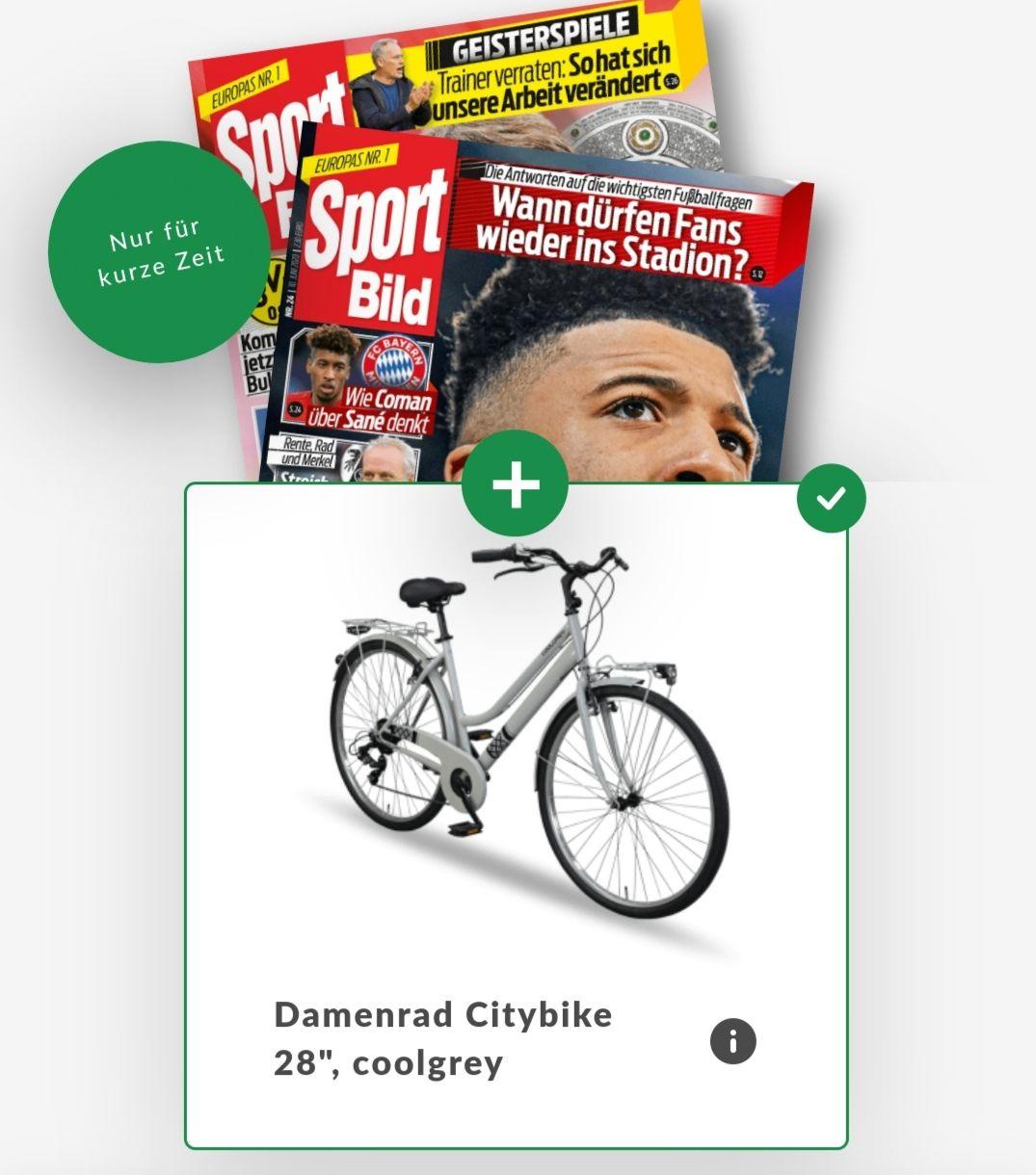 2 Jahres Abo SportBild inkl. City Fahrrad als Geschenk
