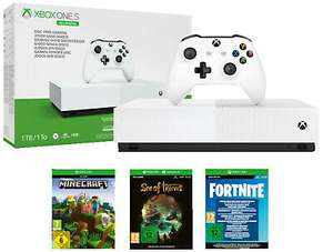 Microsoft Xbox One S 1TB All Digital Edition + Minecraft + Sea of Thieves + Fortnite: Battle Royale