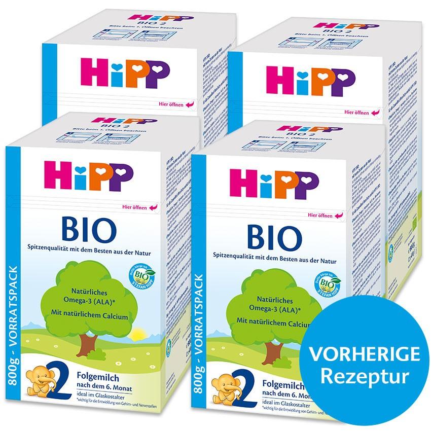 HIPP BIO 2 Folgemilch (4x800 Gr. / vor Rezepturumstellung) im Angebot