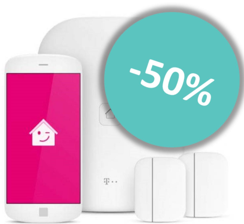 Restposten: Magenta SmartHome Starterpaket mit 2 Tür/Fensterkontakten | Rauchmelder für 24,99€+ Innensirene für 30,99€