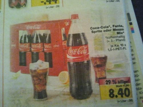 [Kaufland bundesweit?]  Coca-Cola für 0,56€/l