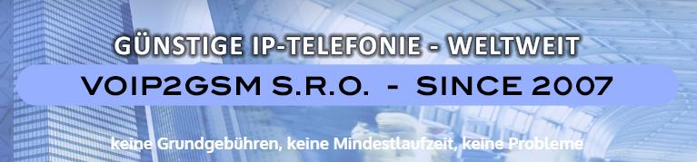 VoIP2GSM mit 100 Freiminuten ins deutsche Festnetz oder andere Verbindungen im finanziellen Gegenwert
