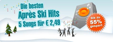 Musicload.de - 5 Titel für 0,99€ -> 2,49€ (Aprés Ski Hits) - 1,50€ Quizgutschein