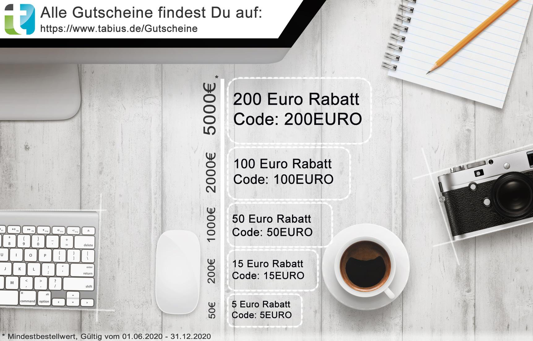 5€ - 200€ Rabatt auf Technik & Elektronik im Onlineshop von Tabius